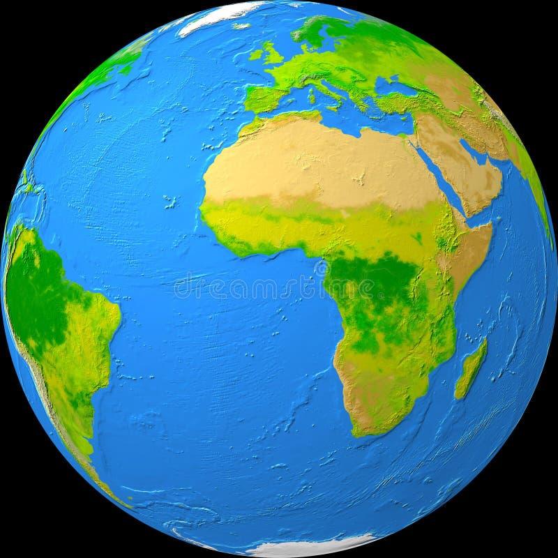 地球视图 向量例证