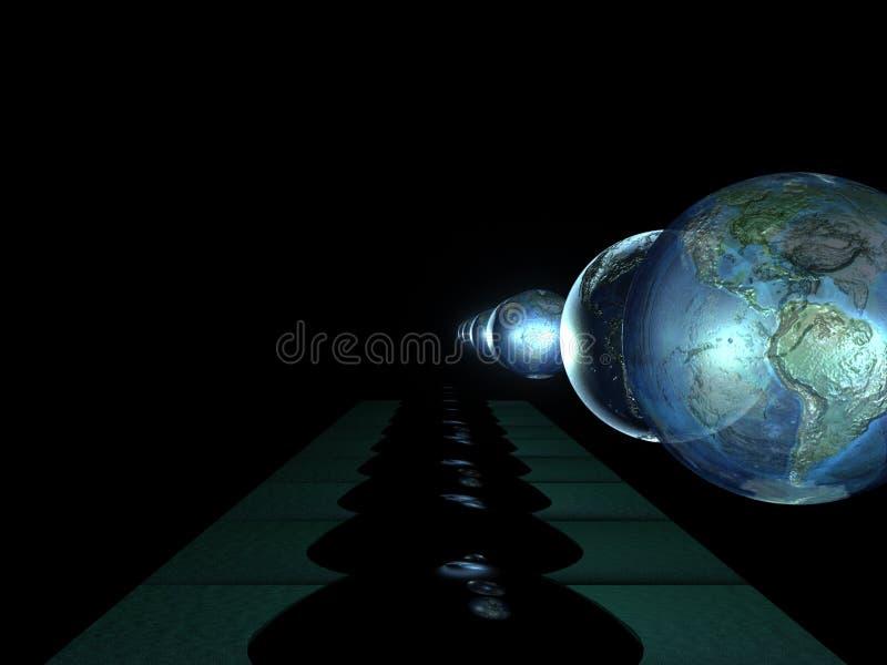 地球许多反映 库存照片