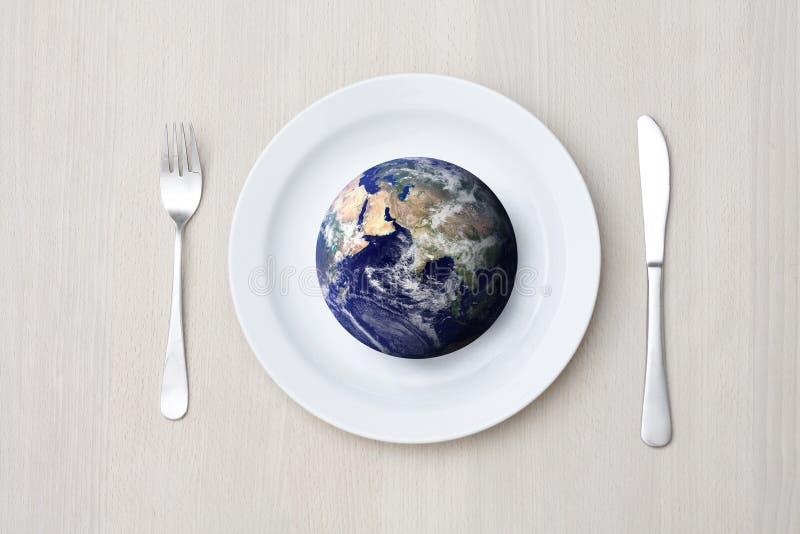 地球设置表 库存照片