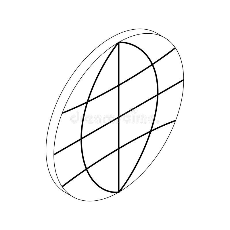 地球象,等量3d样式 库存例证