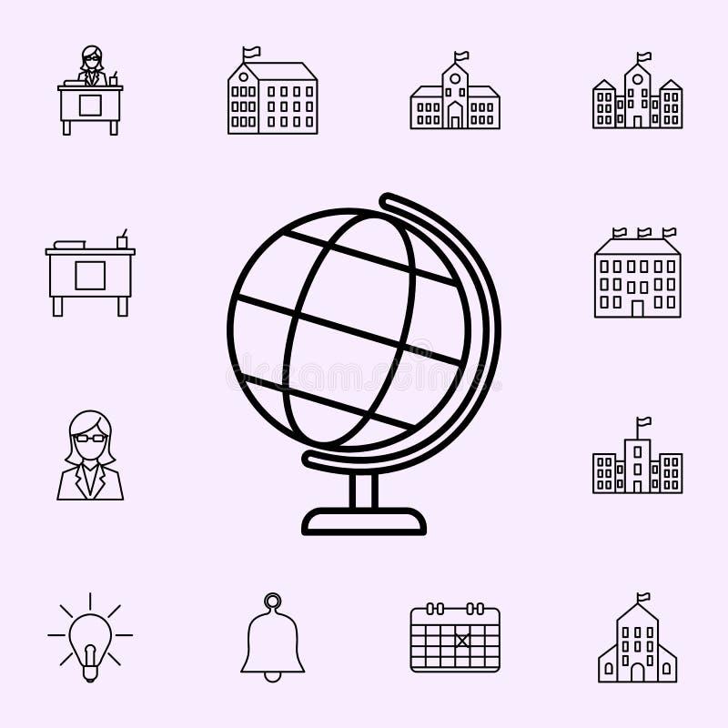 地球象 网和机动性的学校象全集 库存例证