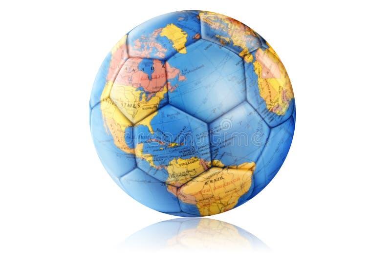 地球足球 库存例证