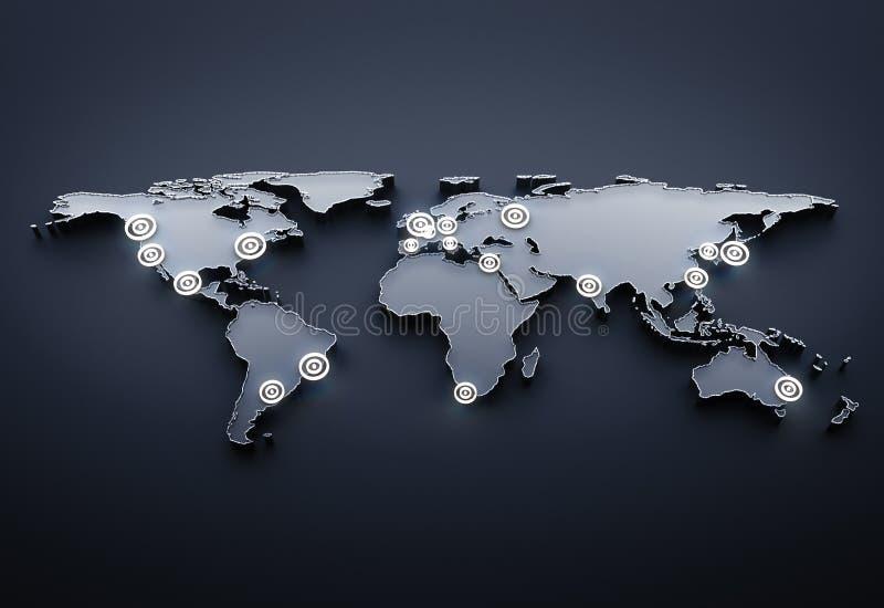 地球通信 库存例证