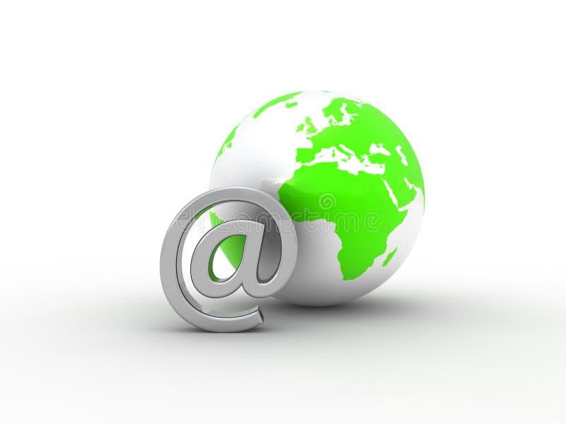 地球邮件 库存例证