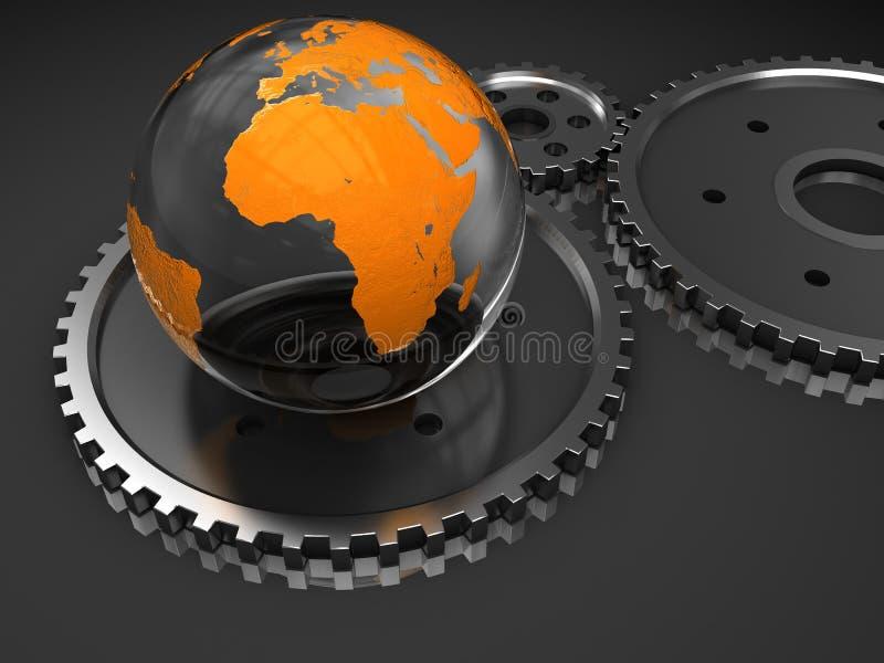 地球链轮 向量例证