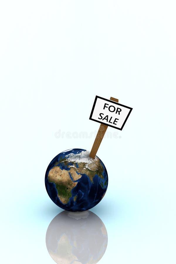地球销售额 皇族释放例证