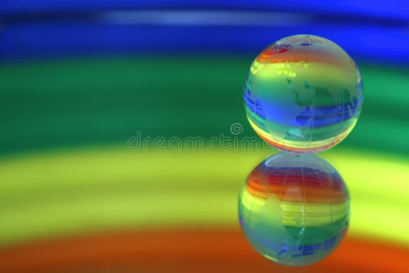 地球镜子表面 免版税库存照片