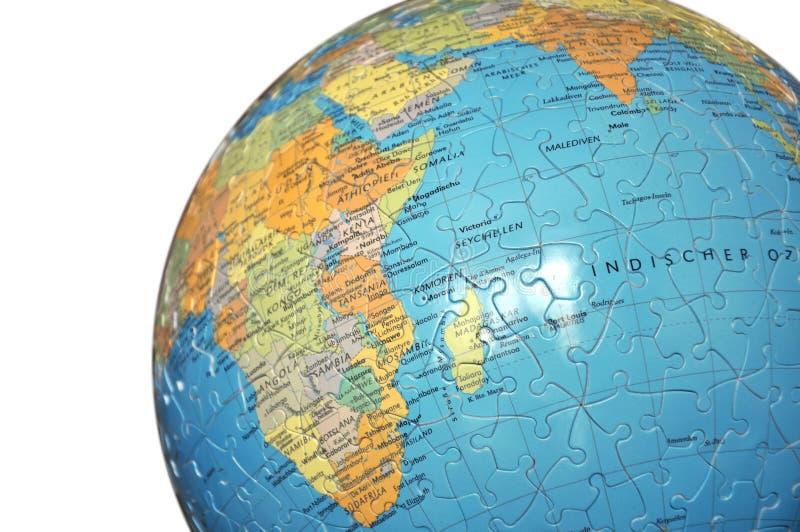 地球难题白色 库存图片