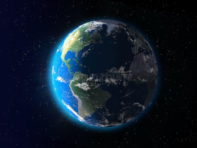 地球黎明 库存例证