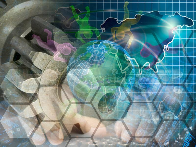 地球,适应并且供以人员 免版税库存图片