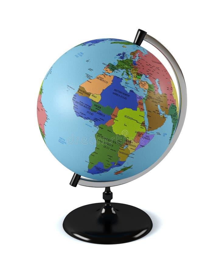 地球,隔绝在白色背景 免版税库存图片