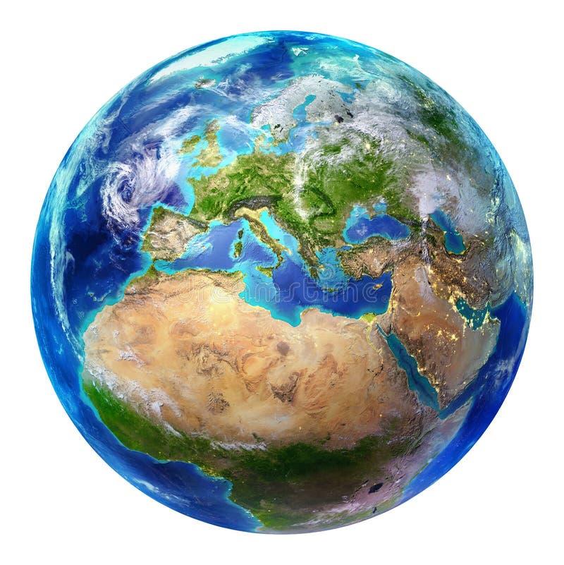 地球-被隔绝的欧洲 库存例证