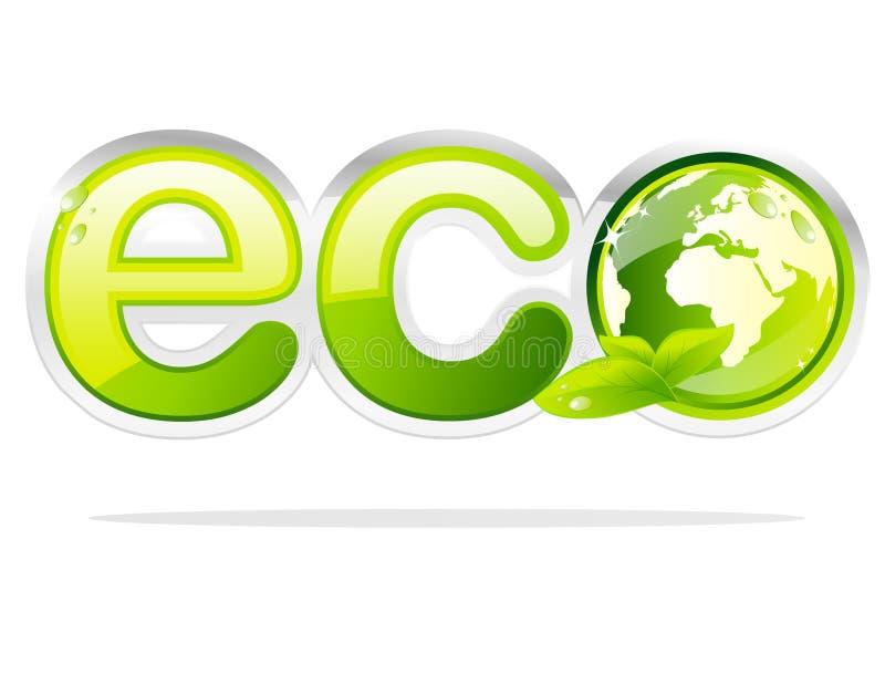 地球eco符号 皇族释放例证