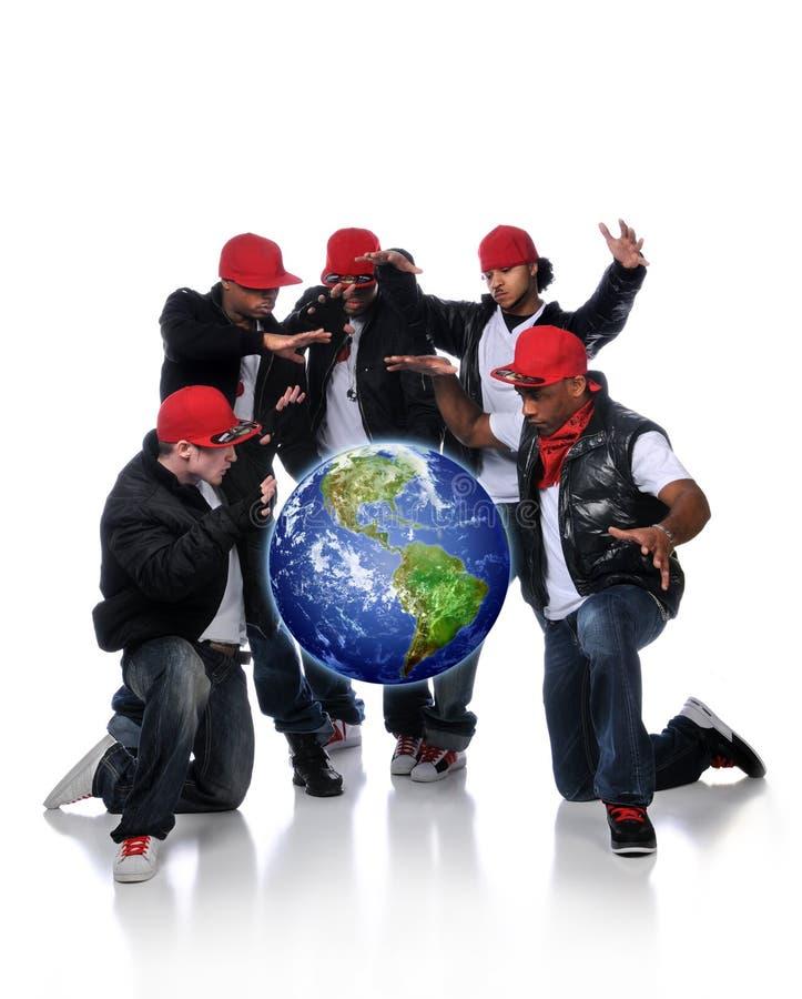 地球Hip Hop人被暂停 免版税库存图片