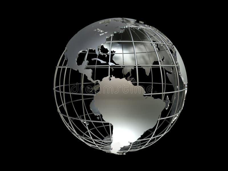 地球metall 库存例证