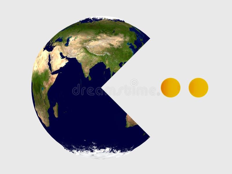 地球pac 向量例证