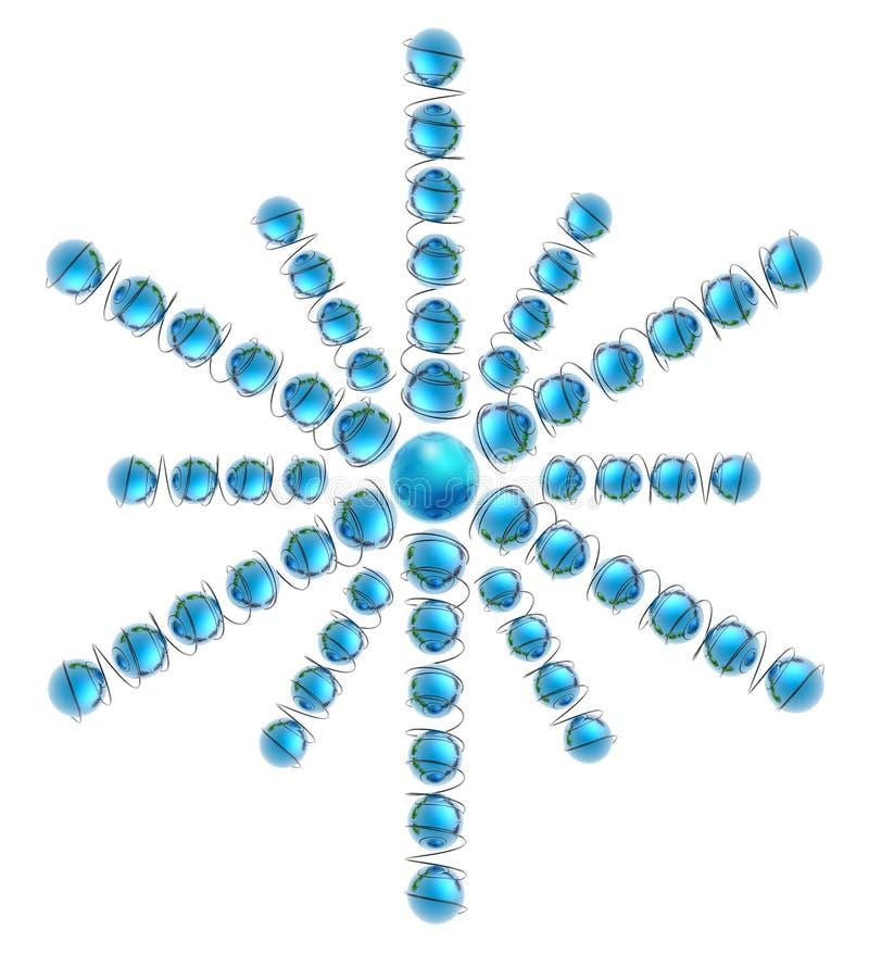 地球Snowflake_2 免版税库存图片