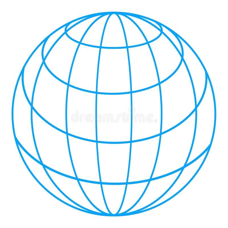 地球wireframe 向量例证