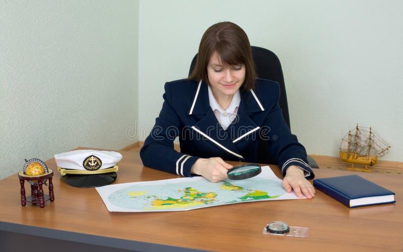 地理映射统一妇女 免版税库存照片