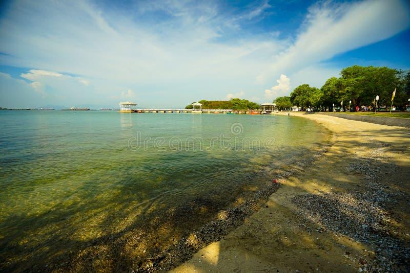 地界Atsadang桥梁在斯里张海岛,泰国 免版税库存照片