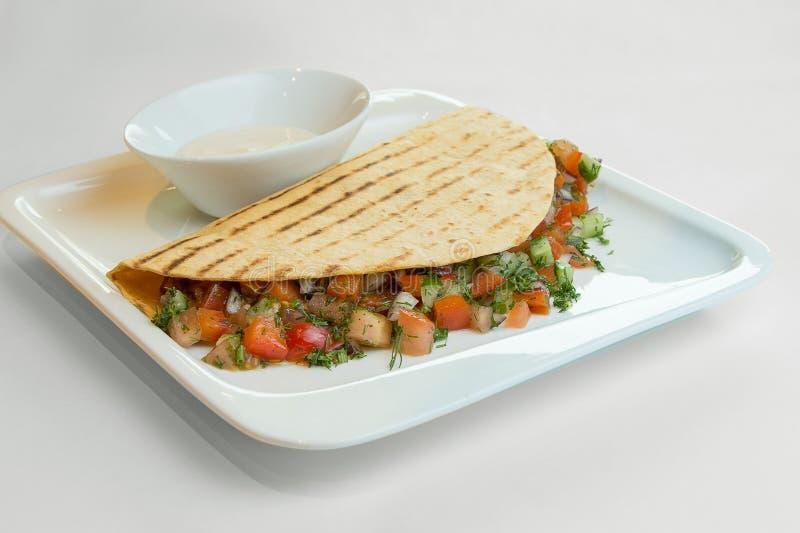 地道墨西哥炸玉米饼 免版税库存图片