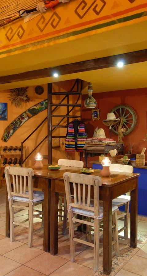地道墨西哥餐馆 免版税库存图片
