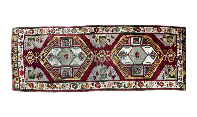地道手工制造土耳其地毯 图库摄影