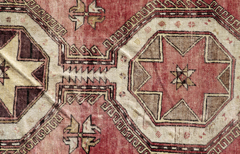 地道手工制造土耳其地毯 免版税图库摄影