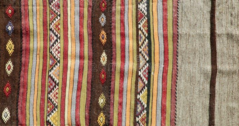 地道手工制造土耳其地毯 免版税库存图片