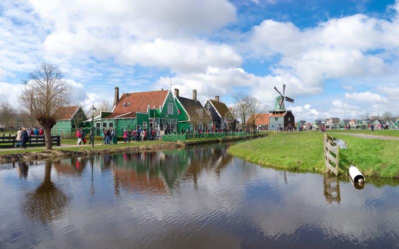 地道荷兰房子 库存图片
