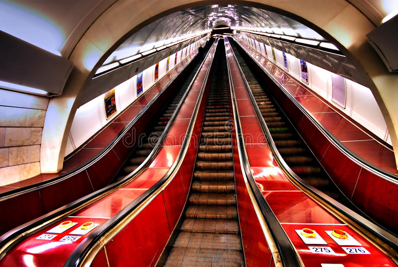 地铁台阶 图库摄影