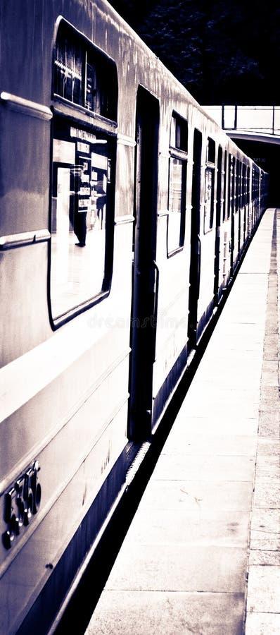 地铁和培训 免版税库存照片