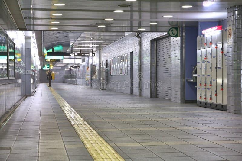 地铁在大阪,日本 库存照片
