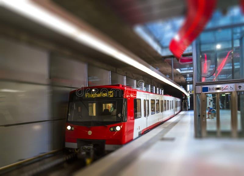 地铁在纽伦堡 库存照片