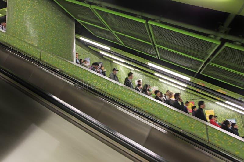 地铁在香港 免版税库存照片