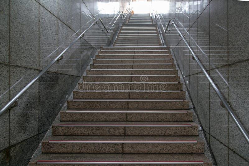 地铁地下台阶 库存图片