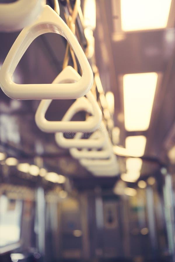 地铁地铁扶手栏杆 免版税库存照片