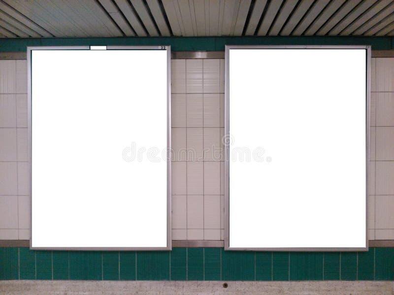 地铁广告牌 免版税库存照片