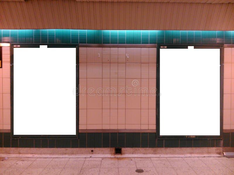 地铁广告牌2 库存图片