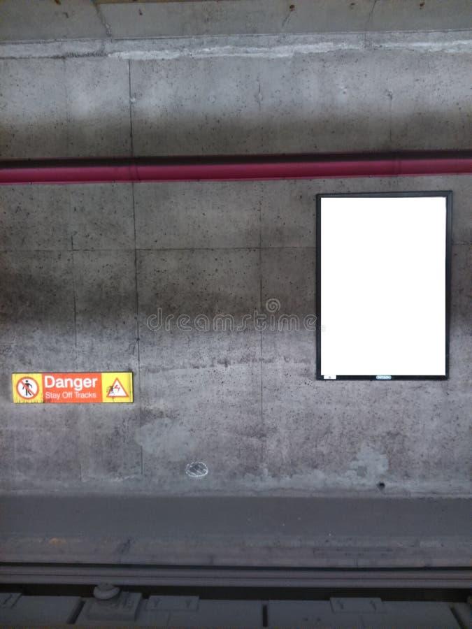 地铁广告牌3 库存照片