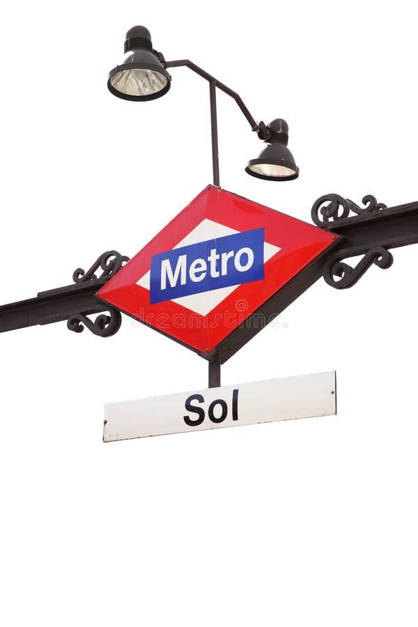 地铁标志- Sol 免版税库存图片