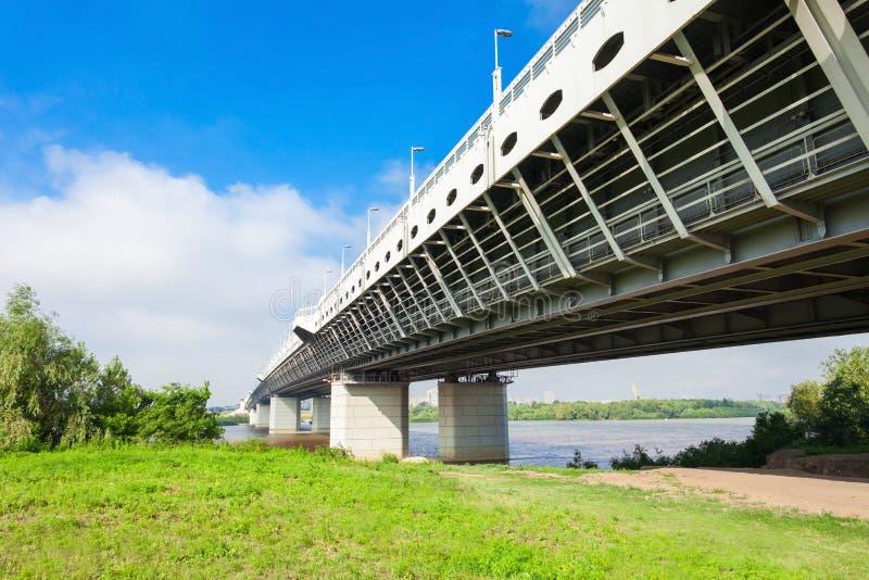 地铁桥梁在鄂木斯克 库存照片