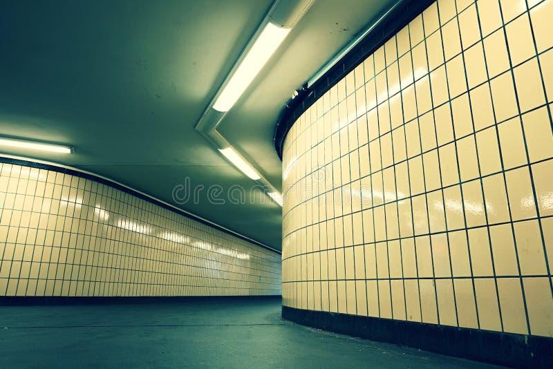 从地铁的地下段落 库存照片