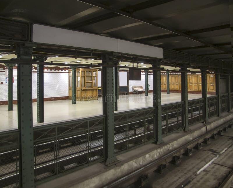 地铁站在布达佩斯 免版税库存图片
