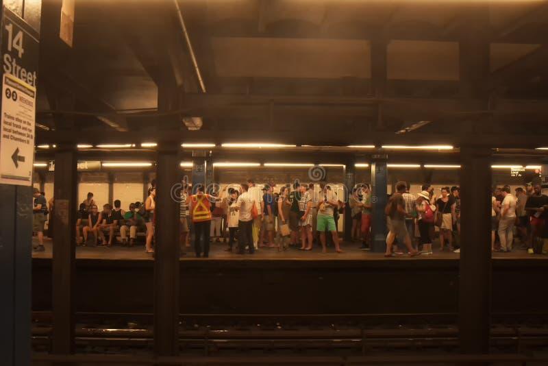 地铁站在14街道的曼哈顿 纽约,美国 免版税库存图片
