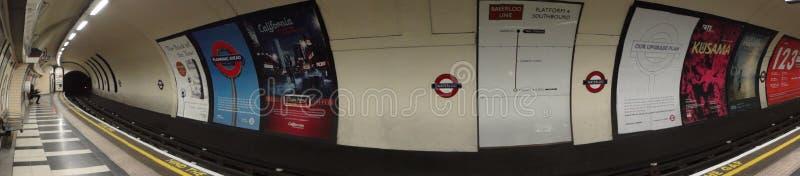 地铁车站在伦敦英国 库存照片