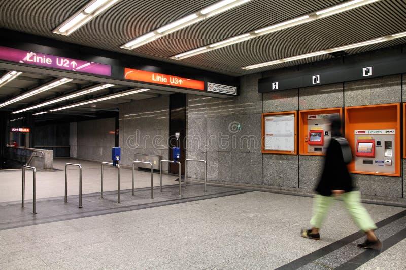 地铁车站维也纳 免版税库存图片