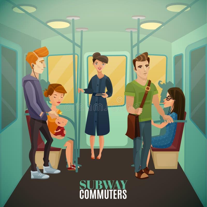 地铁通勤者背景 皇族释放例证