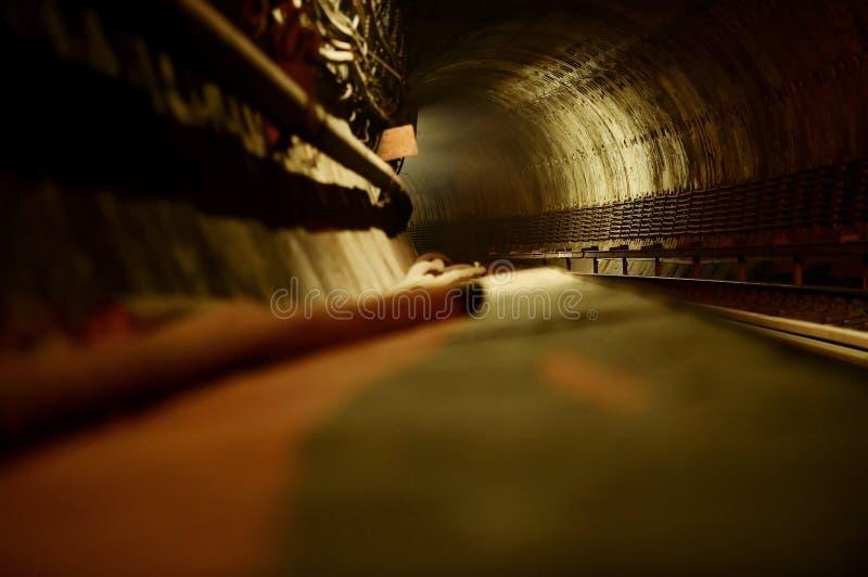 地铁隧道NYC 免版税库存照片