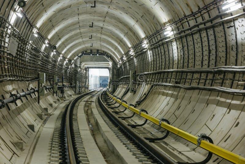 地铁隧道NYC 免版税库存图片